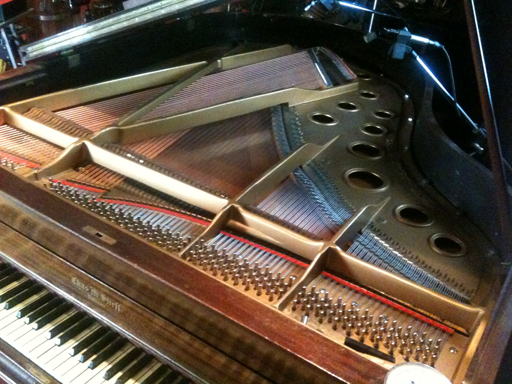 Stieff Grandpiano with microphones
